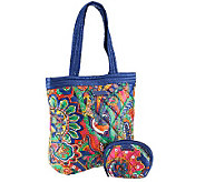 Vera Bradley Perfectly Puffy Reversible Tote and Cosmetic - A239341