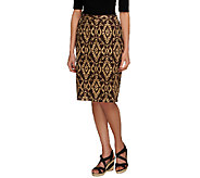 Linea by Louis DellOlio Ikat Printed Pull-On Skirt - A254441