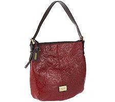 Tignanello Glazed Vintage Embossed Leather Hobo