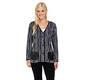 Bob Mackies Knit Striped Jacket - A258141