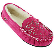 Lamo Suede Moccasin w/ Faux Fur Lining & Studs - Icicle - A258741