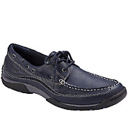 Vionic with Orthaheel Mens Orthotic Leather Boat Shoes - Eddy - A266241