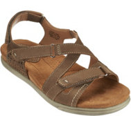 Earth Origins Nubuck Adj. Multi-strap Sandals - Henrietta
