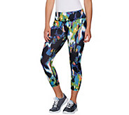 cee bee CHERYL BURKE Printed Pull-On Crop Pants - A278041