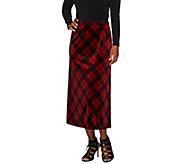 As Is Susan Graver Printed Velvet Comfort Waist Pull-On Long Skirt - A279141