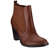 As Is Isaac Mizrahi Live! Leather Boots with Goring - A281041