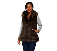 As Is Joan Rivers Reversible Faux Fur and Quilted Puffer Vest - A281841