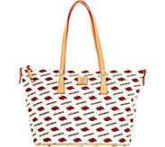 Dooney & Bourke NCAA University of Arkansas Zip Top Shopper - A283241