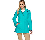 As Is Dennis Basso Water Resistant Jacket w/Circle Print Lining - A283541