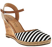 As Is Sole Society Closed Toe Wedges w/ Ankle Strap - Lucy - A284541
