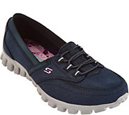 As Is Skechers EZ Flex Canvas Slip-on Shoes - Ringer - A285241
