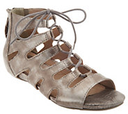 Earthies Suede Ghillie Lace-up Sandals - Roma - A289341