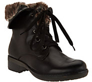 As Is BareTraps Lace-up Boots with Faux Fur Lining - A293041
