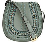 As Is Aimee Kestenberg Pebble Leather Large Saddle Crossbody - A293241