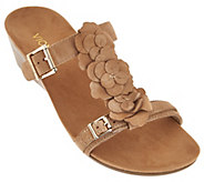 As Is Vionic Orthotic Suede Wedge Sandals - Clay - A299241