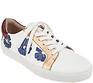 Vince Camuto Leather Lace Up Sneakers - Claudinia - A306241