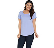 Isaac Mizrahi Live! Essentials Short Raglan Sleeve T-Shirt - A306541