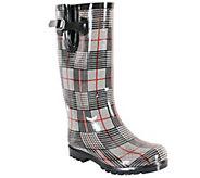 Nomad Puddles Rubber Rain Boots - Plaid - A337841