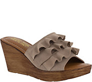 Bella Vita Suede Leather Wedge Sandals - Bey-Italy - A363441