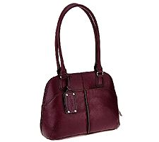 Tignanello Pebble Leather Multi- Compartment Domed Satchel