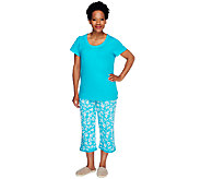 Carole Hochman Dogwood 100Cotton Jersey 2-piece Capri PJ Set - A212442