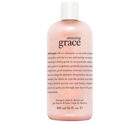 philosophy amazing grace shampoo bath amp shower gel qvc com philosophy amazing grace bath shampoo amp shower gel