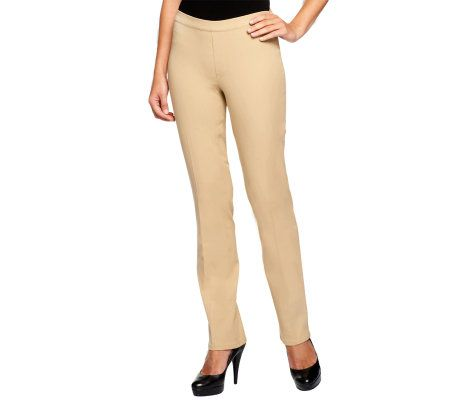 Isaac Mizrahi Live! 24/7 Stretch Full Length Pull-on Pants