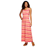 Liz Claiborne New York Regular Stripe Printed Maxi Dress - A232442