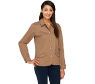 Liz Claiborne New York Button Front Stretch Twill Jacket