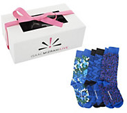 As Is Isaac Mizrahi Live! Set of 3 Patterned Socks - A254742
