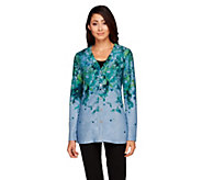 George Simonton V-Neck Button Front Ombre Cardigan - A256942