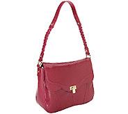 As Is B. Makowsky Karlie Glazed Leather Shoulder Bag - A258042