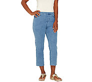 Isaac Mizrahi Live! Regular 24/7 Denim Crop Pants - A266942