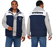 NFL Dallas 5-in-1 Reversible Vest and Hoodie Combo - A268242
