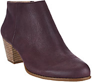 As Is Sole Society Leather or Suede Stacked Heel Ankle Boots - A275642