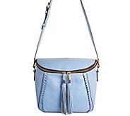 orYANY Pebbled Leather Crossbody Bag w/ Tassels - Kimberly - A277142