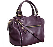 As Is orYANY Pebble Leather Satchel - Alexis - A280442