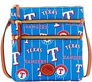 Dooney & Bourke MLB Nylon Rangers Triple Zip Crossbody - A281542