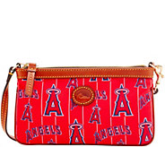 Dooney & Bourke MLB Nylon Angels Large Slim Wristlet - A281642