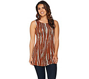 LOGO Layers by Lori Goldstein Printed Straight Hem Tank - A282742
