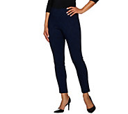Dennis Basso Jacquard Slim Leg Full Length Pants - A284842