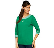 As Is Quacker Factory Anchor Detail 3/4 Sleeve Sweater - A284942