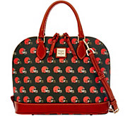 Dooney & Bourke NFL Browns Zip Zip Satchel - A285742