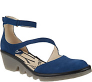 FLY London Leather Closed Toe Wedges - Plan - A286442