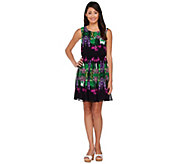 As Is View by Walter Baker Sleeveless Floral Printed Dress - A287242