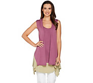 As Is LOGO by Lori Goldstein Color-Block Twin Set Vest and Tank - A287842