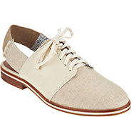 ED Ellen DeGeneres Fabric and Leather Oxfords - Lavanah - A291042
