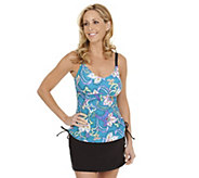 As Is Liz Claiborne New York Floral Tankini Swimsuit - A295842