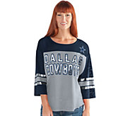 NFL Dallas Womens 3/4 Sleeve Mesh Top - A296242