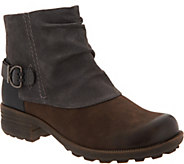 Earth Origins Leather and Suede Ankle Boots - Paige - A296742